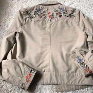 Ralph Lauren Embroidered Khaki Jacket.